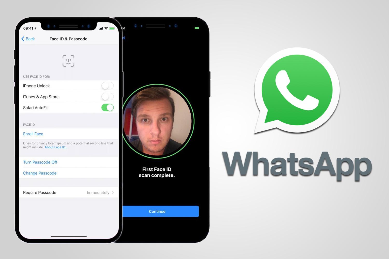 В WhatsApp по Touch ID и Face ID