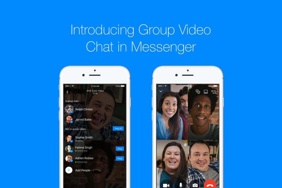 Facebook запустила групповые видеочаты в Messenger