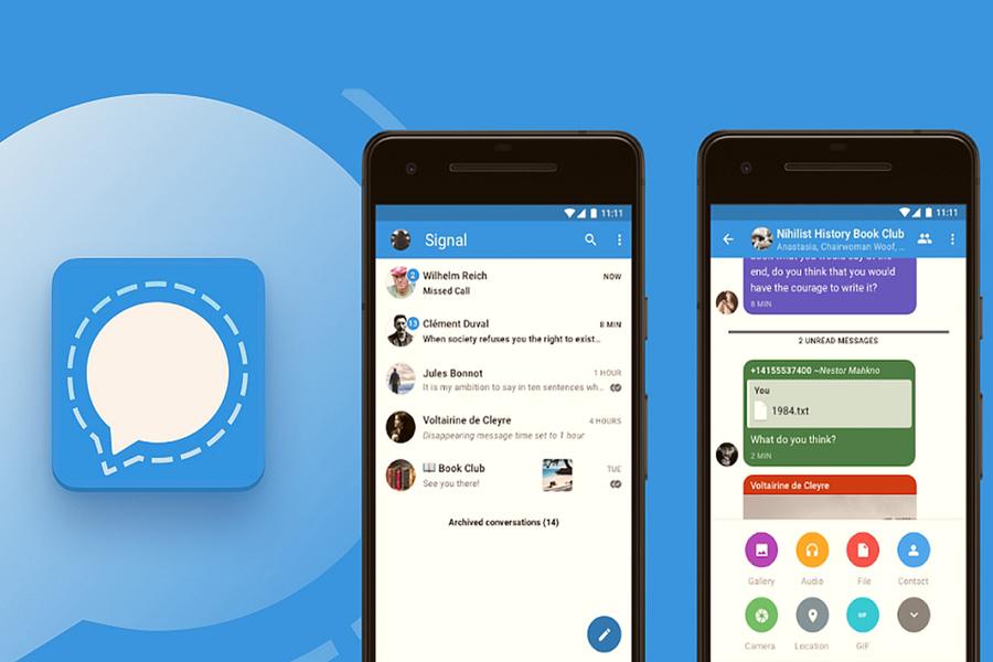 В мессенджер Signal добавили некоторые функции из WhatsApp