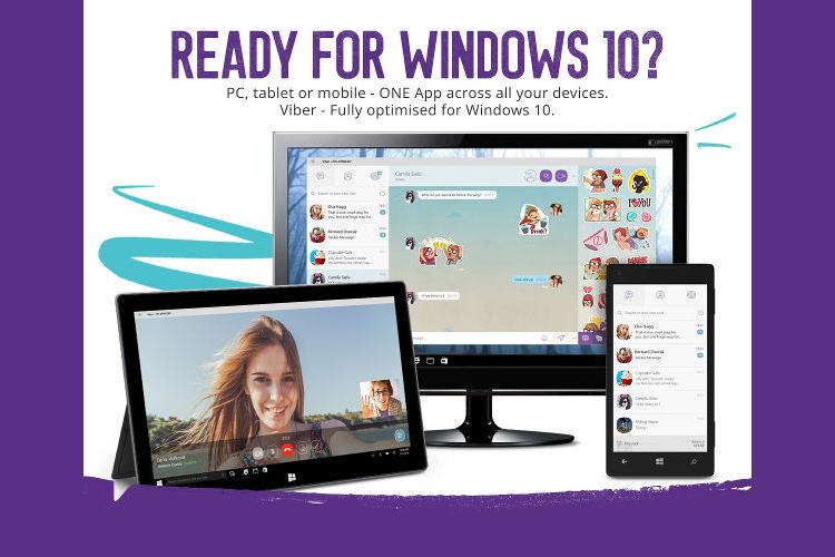 Viber доступен на всех устройствах Windows 10