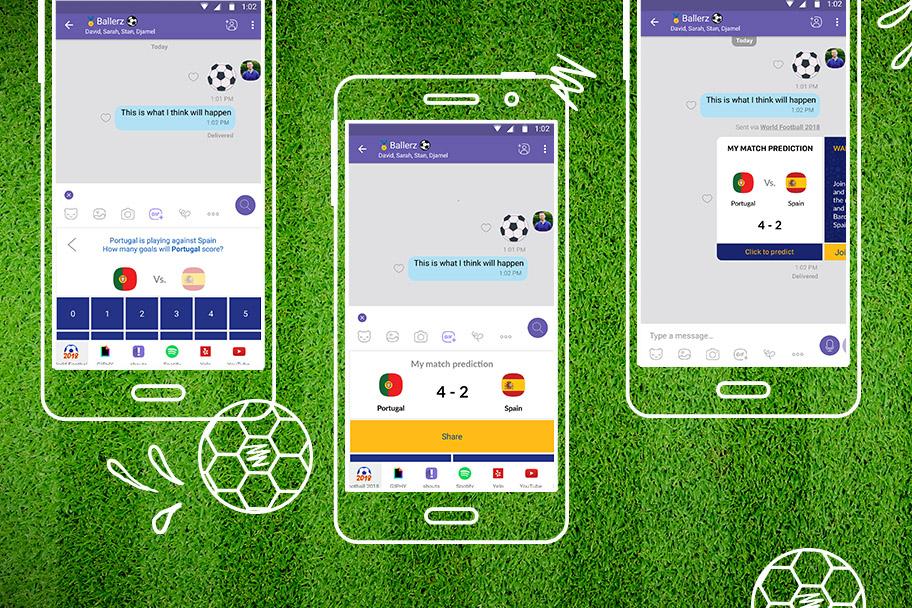 В Viber стало возможно предсказать результаты матчей Чемпионата Мира 2018