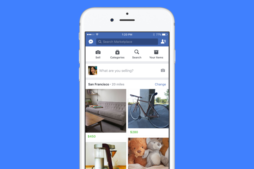Facebook открыл торговую площадку, создав конкурента Avito