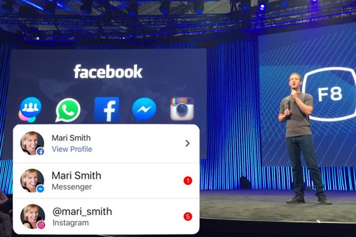 Facebook встроил Instagram и Messenger в мобильную версию соцсети