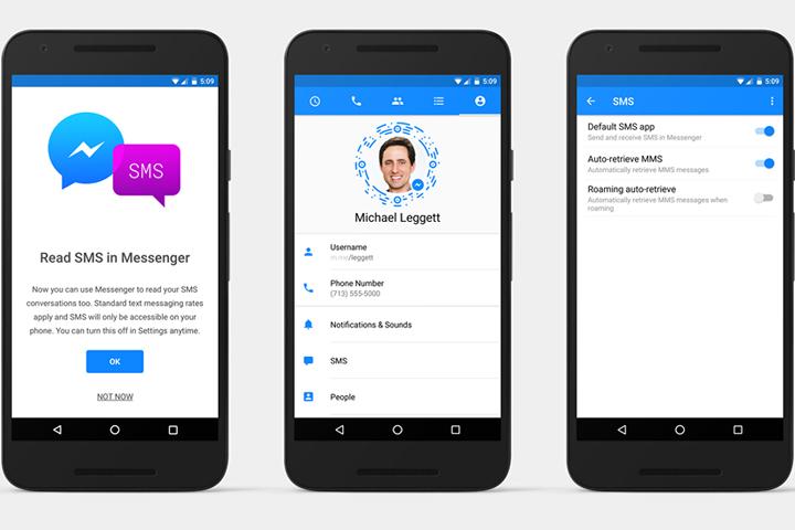 Facebook разрешила пользователям Android получать и отправлять SMS через Messenger