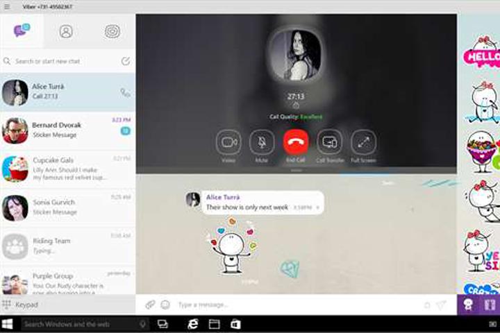 Viber на Windows 10 получил поддержку видеозвонков