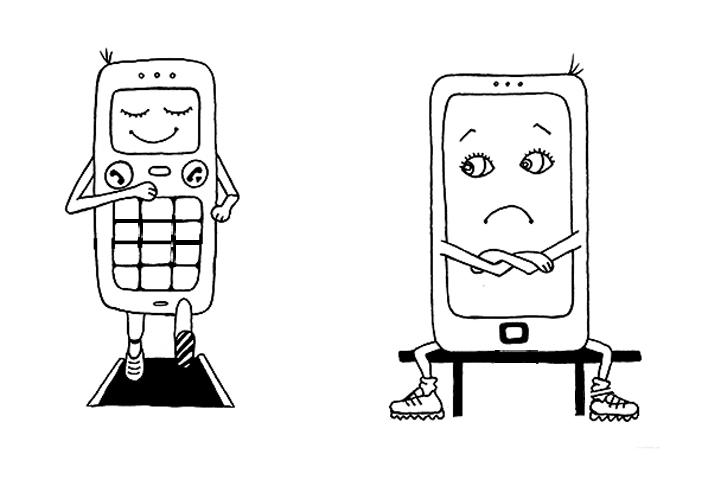 Кнопочные телефоны сдерживают долю роста современных смартфонов