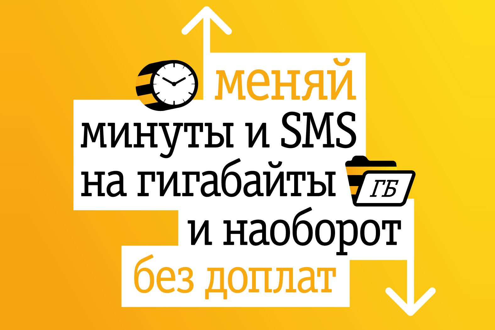 Обзор новых тарифов «ВСЁмоё!» – с «Билайном» можно менять минуты и SMS на гигабайты, и наоборот
