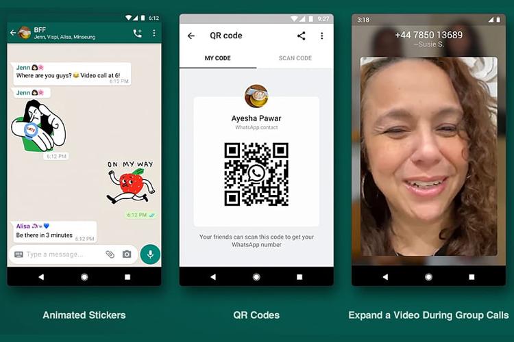 WhatsApp анонсировал анимированные стикеры, QR-коды и многое другое