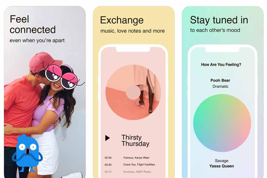 Facebook выпустила приложение Tuned для влюблённых пар