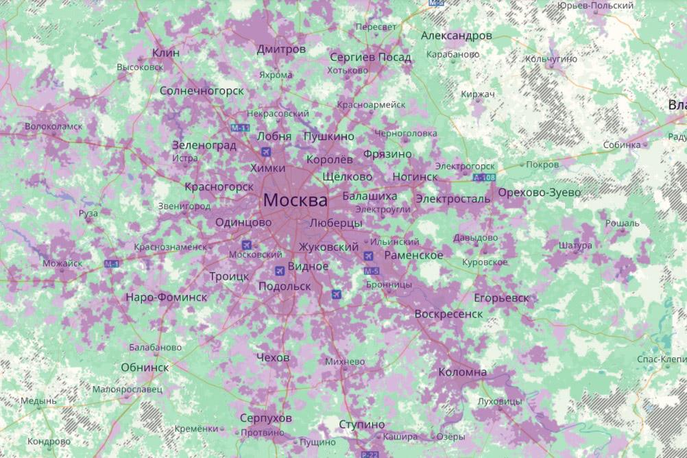 Потребление интернет-трафика в подмосковных районах выросло на 23%