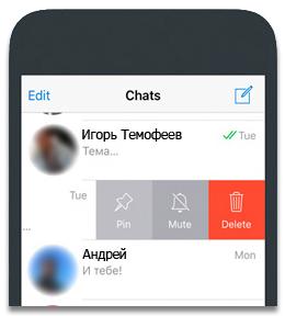 Telegram закрепить чаты и диалоги