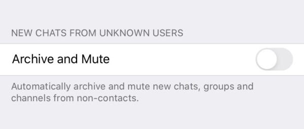 как отключить уведомления и автоматически заархивировать все входящие сообщения Telegram