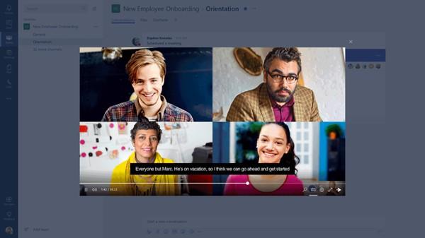 Интерфейс корпоративного мессенджера Microsoft Teams