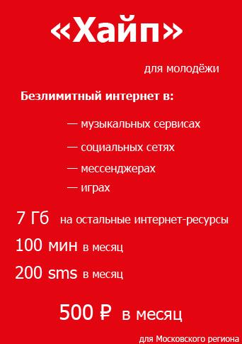 Тариф Хайп МТС