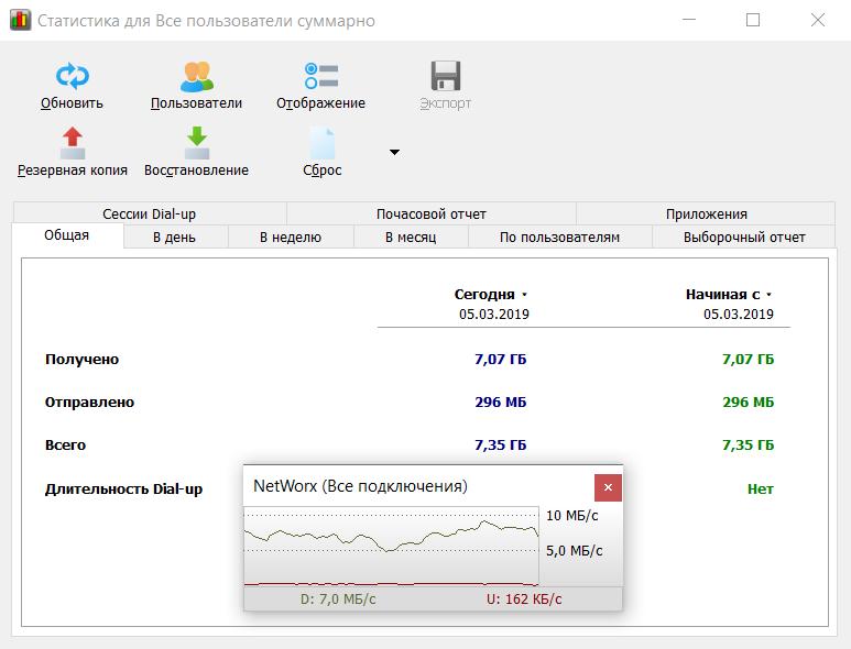 Измерить скорость интернета networx