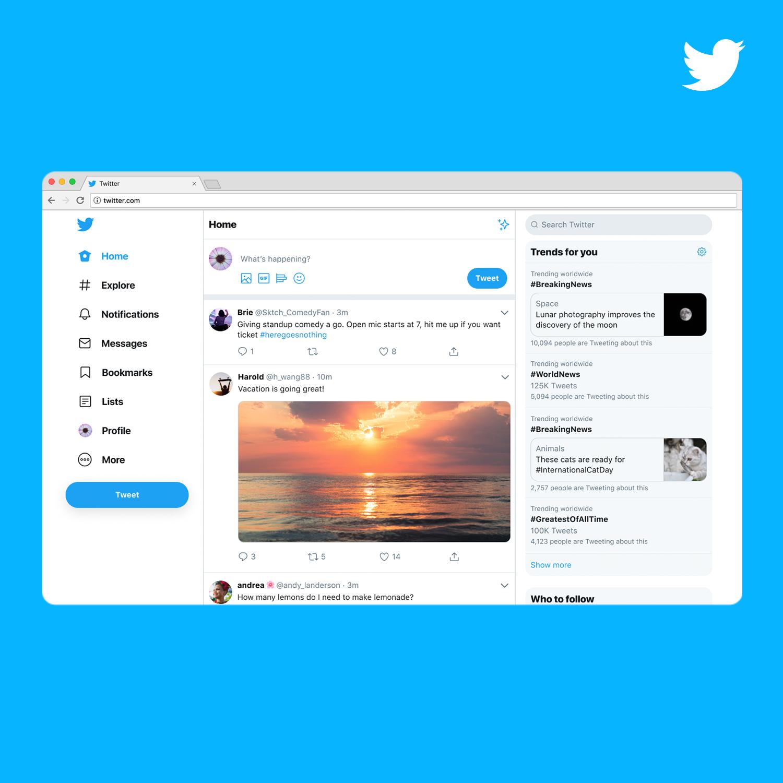 Twitter новый дизайн