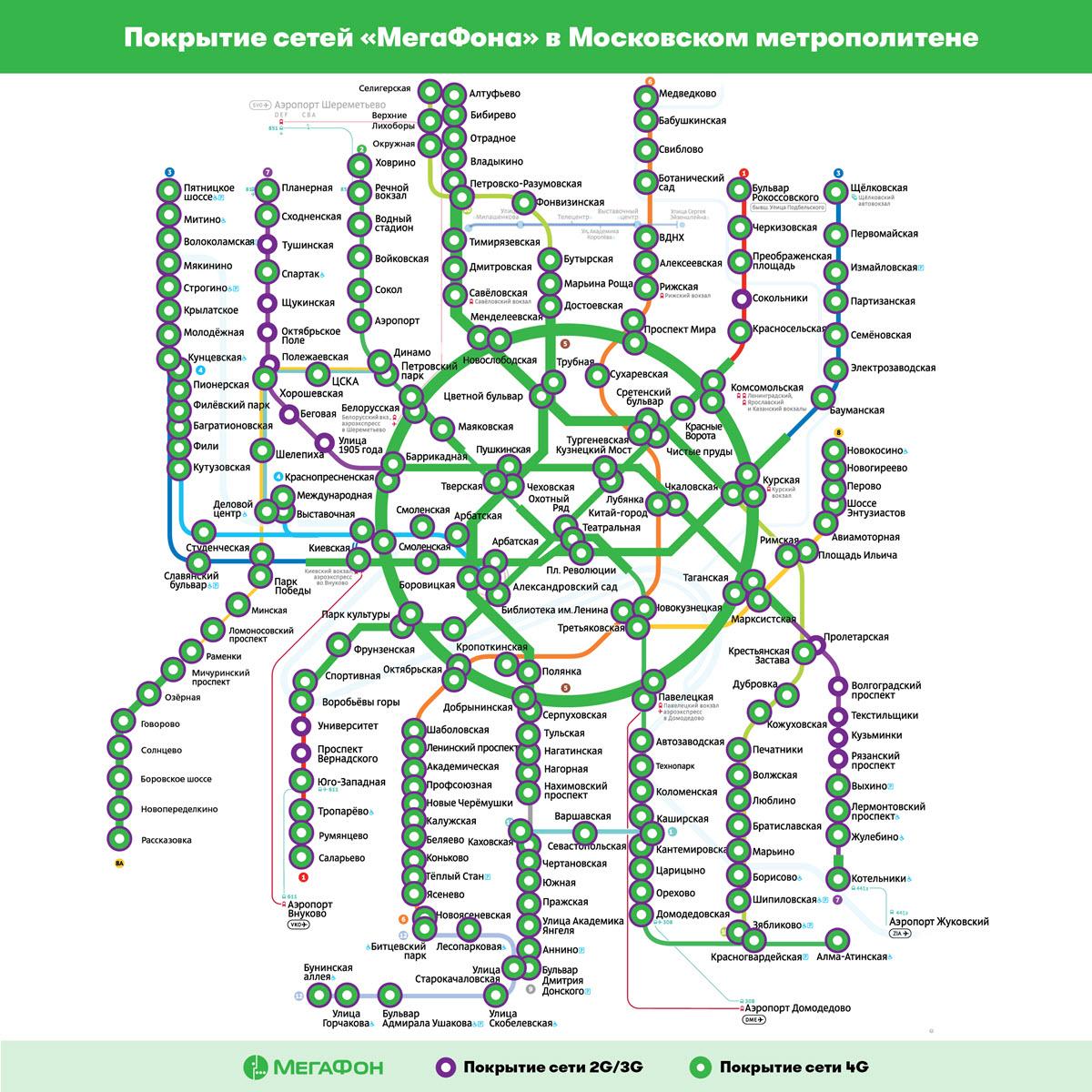 покрытие сети мегафона в московском метро