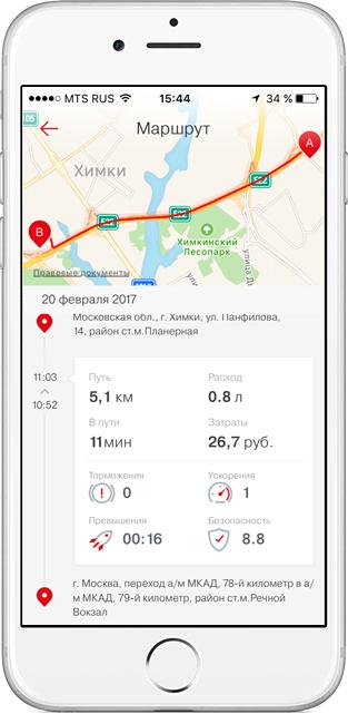 мобильное приложение Мой автомобиль МТС