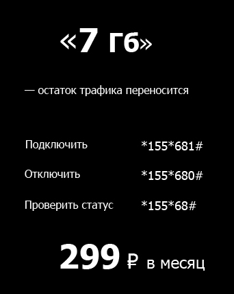 Tele2 опция 7 Гб трафика