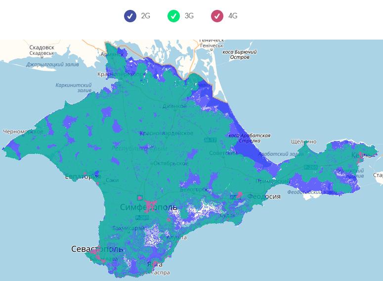 Волна Мобайл карта покрытия