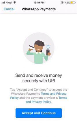 денежные переводы WhatsApp Pay